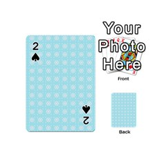 Snowflakes Paper Christmas Paper Playing Cards 54 (mini)