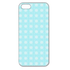 Snowflakes Paper Christmas Paper Apple Seamless Iphone 5 Case (clear) by Sapixe