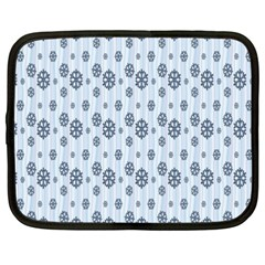 Snowflakes Winter Christmas Card Netbook Case (xxl)  by Sapixe