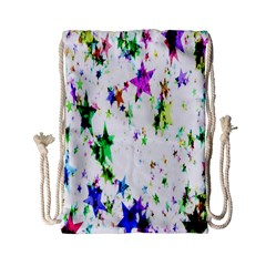 Star Abstract Advent Christmas Drawstring Bag (small)