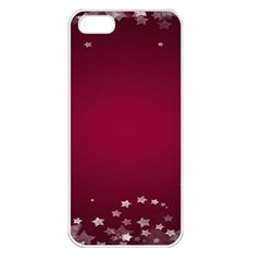 Star Background Christmas Red Apple Iphone 5 Seamless Case (white)
