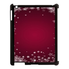 Star Background Christmas Red Apple Ipad 3/4 Case (black) by Sapixe