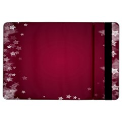 Star Background Christmas Red Ipad Air 2 Flip