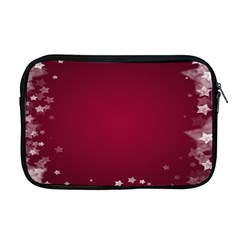 Star Background Christmas Red Apple Macbook Pro 17  Zipper Case by Sapixe