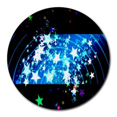 Star Abstract Background Pattern Round Mousepads by Sapixe