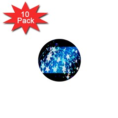 Star Abstract Background Pattern 1  Mini Buttons (10 Pack)