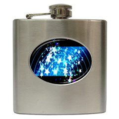 Star Abstract Background Pattern Hip Flask (6 Oz)