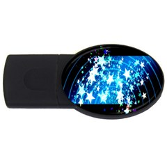 Star Abstract Background Pattern Usb Flash Drive Oval (2 Gb) by Sapixe