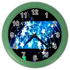 Star Abstract Background Pattern Color Wall Clocks by Sapixe