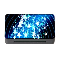 Star Abstract Background Pattern Memory Card Reader With Cf by Sapixe