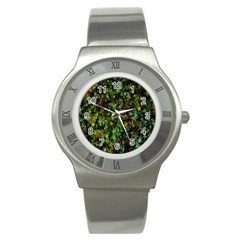 Star Abstract Advent Christmas Stainless Steel Watch by Sapixe