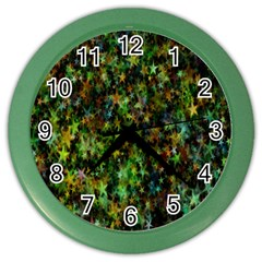 Star Abstract Advent Christmas Color Wall Clocks by Sapixe