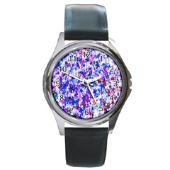 Star Abstract Advent Christmas Round Metal Watch
