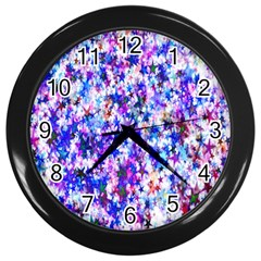 Star Abstract Advent Christmas Wall Clocks (black) by Sapixe