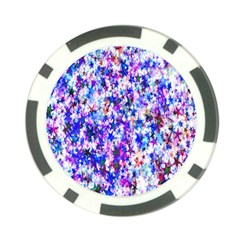 Star Abstract Advent Christmas Poker Chip Card Guard by Sapixe