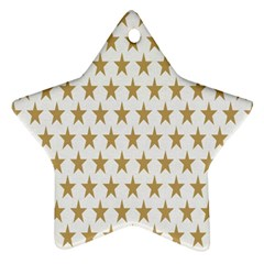 Star Background Gold White Ornament (star) by Sapixe