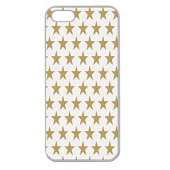 Star Background Gold White Apple Seamless Iphone 5 Case (clear)