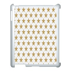 Star Background Gold White Apple Ipad 3/4 Case (white) by Sapixe