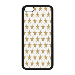 Star Background Gold White Apple Iphone 5c Seamless Case (black)