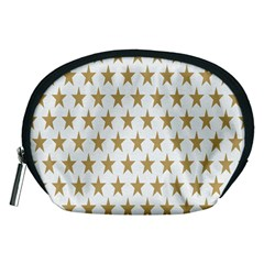 Star Background Gold White Accessory Pouches (medium)  by Sapixe