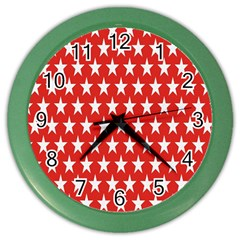 Star Christmas Advent Structure Color Wall Clocks by Sapixe