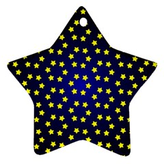 Star Christmas Red Yellow Star Ornament (two Sides) by Sapixe