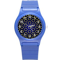 Star Christmas Red Yellow Round Plastic Sport Watch (s) by Sapixe