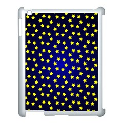 Star Christmas Red Yellow Apple Ipad 3/4 Case (white) by Sapixe