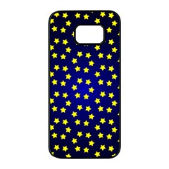 Star Christmas Red Yellow Samsung Galaxy S7 Edge Black Seamless Case