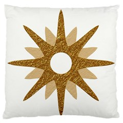 Star Golden Glittering Yellow Rays Large Flano Cushion Case (two Sides)