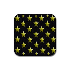 Stars Backgrounds Patterns Shapes Rubber Square Coaster (4 Pack)