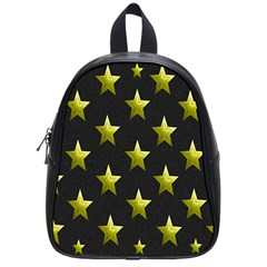 Stars Backgrounds Patterns Shapes School Bag (small) by Sapixe