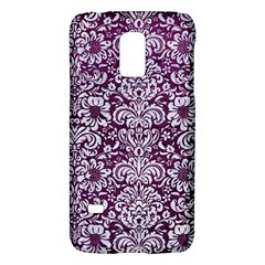 Damask2 White Marble & Purple Leather Galaxy S5 Mini by trendistuff