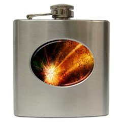 Star Sky Graphic Night Background Hip Flask (6 Oz)