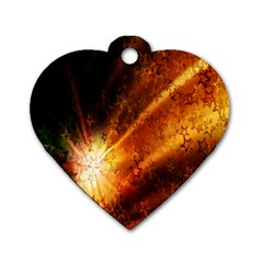 Star Sky Graphic Night Background Dog Tag Heart (one Side) by Sapixe