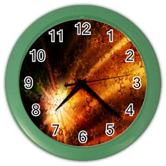 Star Sky Graphic Night Background Color Wall Clocks by Sapixe