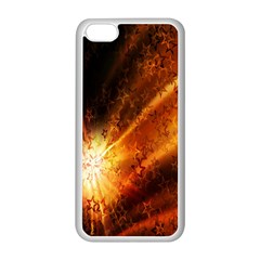 Star Sky Graphic Night Background Apple Iphone 5c Seamless Case (white) by Sapixe