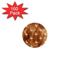 Stars Brown Background Shiny 1  Mini Magnets (100 Pack)