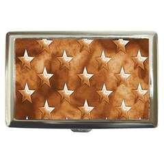 Stars Brown Background Shiny Cigarette Money Cases by Sapixe