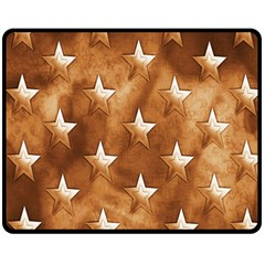 Stars Brown Background Shiny Fleece Blanket (medium)  by Sapixe