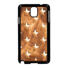 Stars Brown Background Shiny Samsung Galaxy Note 3 Neo Hardshell Case (black) by Sapixe