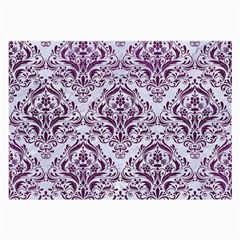 Damask1 White Marble & Purple Leather (r) Large Glasses Cloth by trendistuff