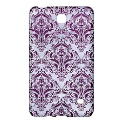 Damask1 White Marble & Purple Leather (r) Samsung Galaxy Tab 4 (7 ) Hardshell Case  by trendistuff
