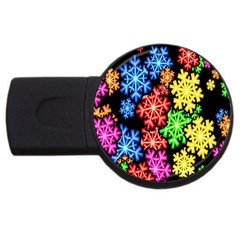 Wallpaper Background Abstract Usb Flash Drive Round (4 Gb)