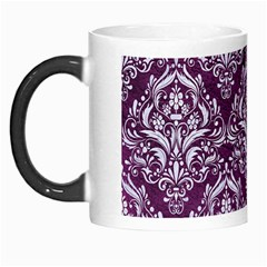 Damask1 White Marble & Purple Leather Morph Mugs by trendistuff