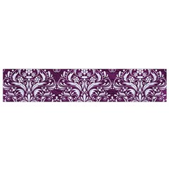 Damask1 White Marble & Purple Leather Small Flano Scarf by trendistuff