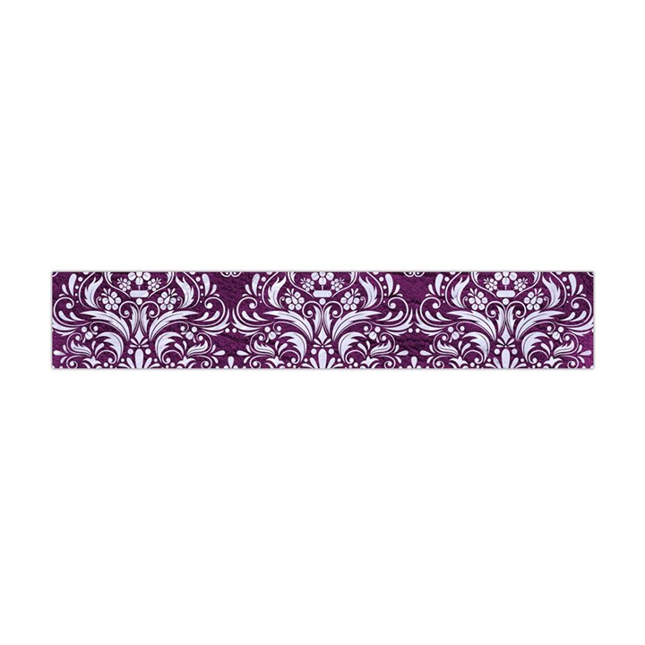 DAMASK1 WHITE MARBLE & PURPLE LEATHER Flano Scarf (Mini)