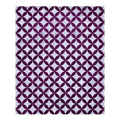 Circles3 White Marble & Purple Leather (r) Shower Curtain 60  X 72  (medium)  by trendistuff