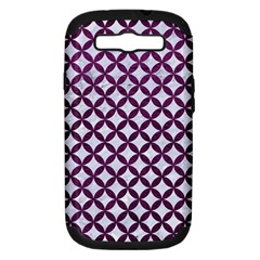 Circles3 White Marble & Purple Leather (r) Samsung Galaxy S Iii Hardshell Case (pc+silicone) by trendistuff