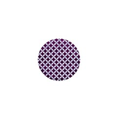 Circles3 White Marble & Purple Leather 1  Mini Buttons by trendistuff